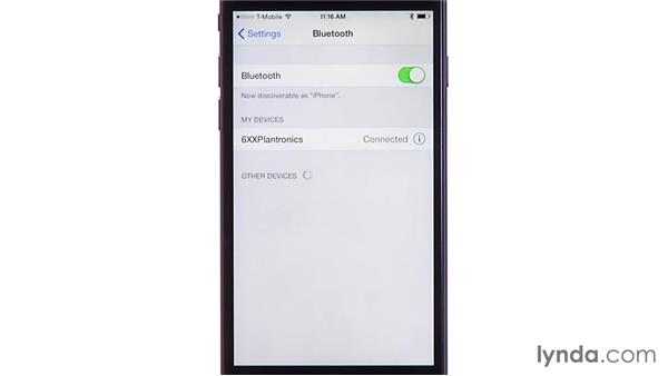Using a Bluetooth headset: iOS 8: iPhone and iPad Essential Training