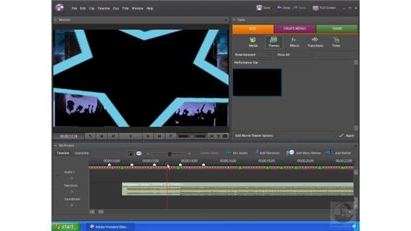 Applying a Movie Theme: Premiere Elements 4 Essential Training