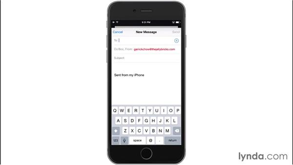 Setting mail options: iOS 8: iPhone and iPad Essential Training
