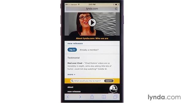 Web browsing with Safari: iOS 8: iPhone and iPad Essential Training