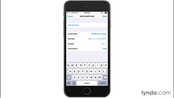 Completing forms and using AutoFill: iOS 8: iPhone and iPad Essential Training