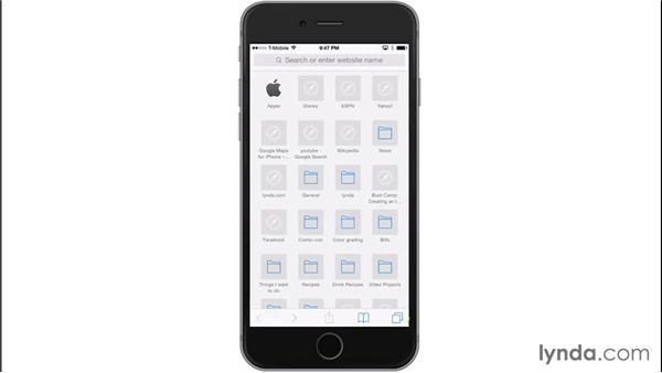 Using iCloud tabs: iOS 8: iPhone and iPad Essential Training