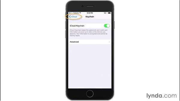 Using iCloud Keychain: iOS 8: iPhone and iPad Essential Training