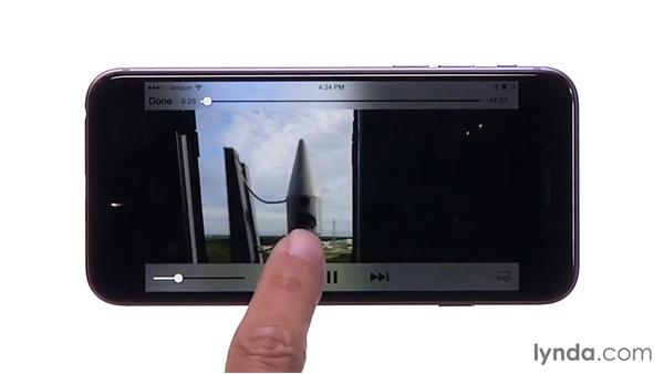 Playing and controlling video: iOS 8: iPhone and iPad Essential Training