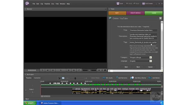 Exporting and posting to YouTube: Premiere Elements 4 Essential Training