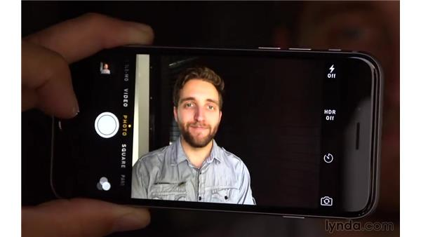 Shooting still photos with your device: iOS 8: iPhone and iPad Essential Training