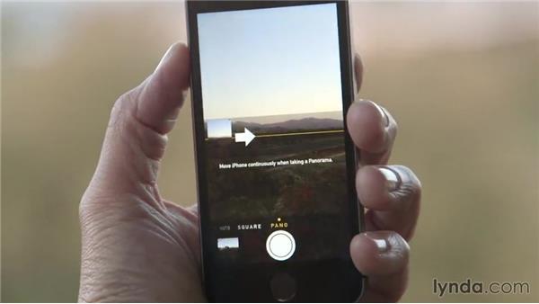 Shooting panoramas: iOS 8: iPhone and iPad Essential Training