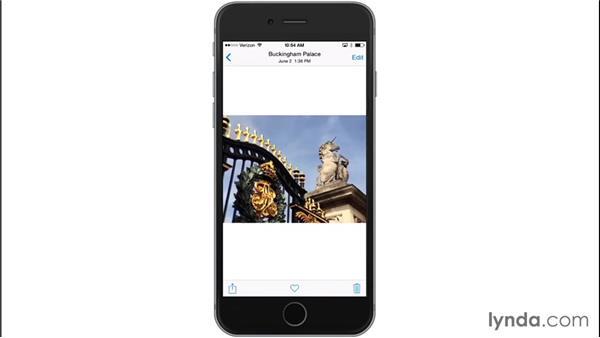 Creating albums: iOS 8: iPhone and iPad Essential Training