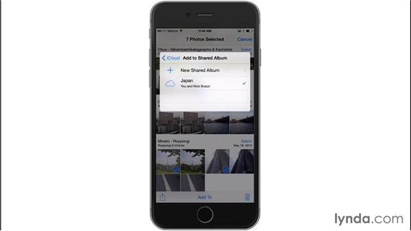 Creating a shared photo stream: iOS 8: iPhone and iPad Essential Training