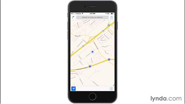 Getting your location with Maps: iOS 8: iPhone and iPad Essential Training