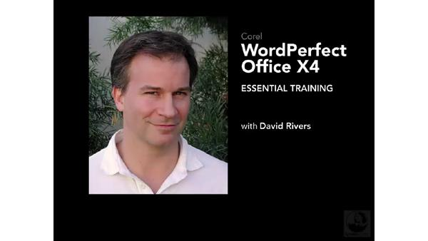 Welcome: WordPerfect Office X4 Essential Training