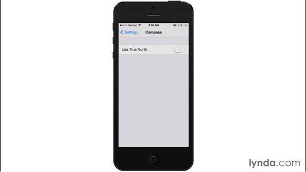 Using the Compass app: iOS 8: iPhone and iPad Essential Training