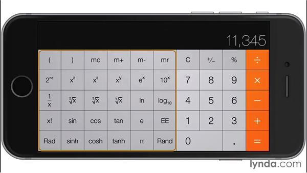 Calculator: iOS 8: iPhone and iPad Essential Training