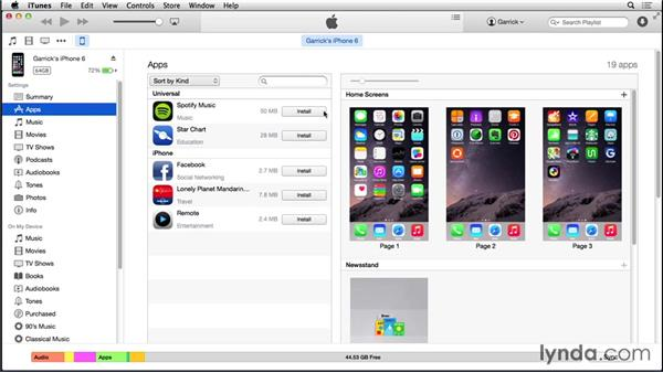 Purchasing apps: iOS 8: iPhone and iPad Essential Training