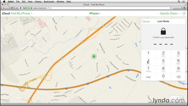 Using Find My iPhone and Activation Lock: iOS 8: iPhone and iPad Essential Training