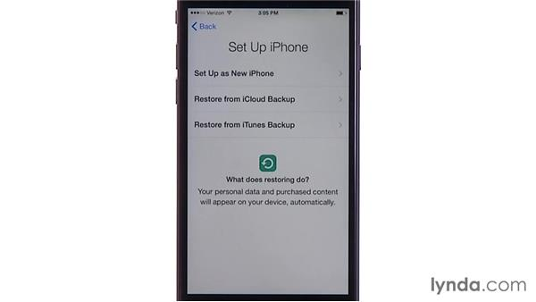 Erasing and restoring: iOS 8: iPhone and iPad Essential Training
