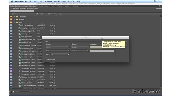 Using search and filter tools in Premiere Pro: Video Post Tips Weekly