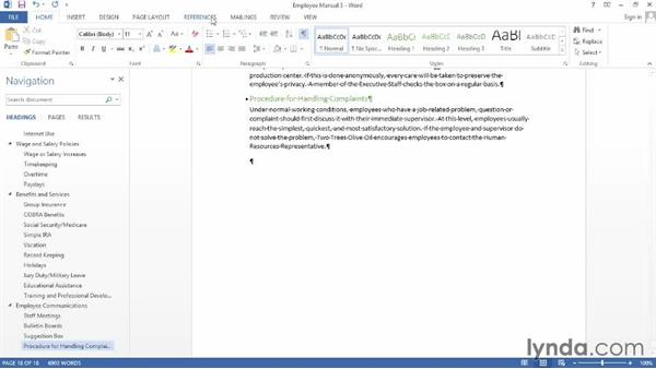 Creating a bibliography: Word 2013: Creating Long Documents
