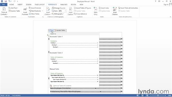 Creating a table of contents from an outline: Word 2013: Creating Long Documents