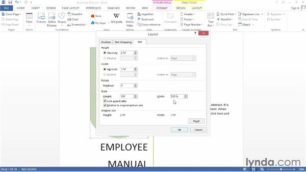 Adding a cover page: Word 2013: Creating Long Documents