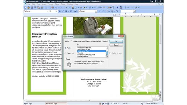 Moving and copying text: WordPerfect Office X4 Essential Training