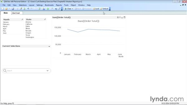 Introducing the QlikView user interface: Up and Running with QlikView