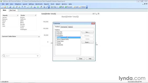 Modifying the QlikView user interface: Up and Running with QlikView