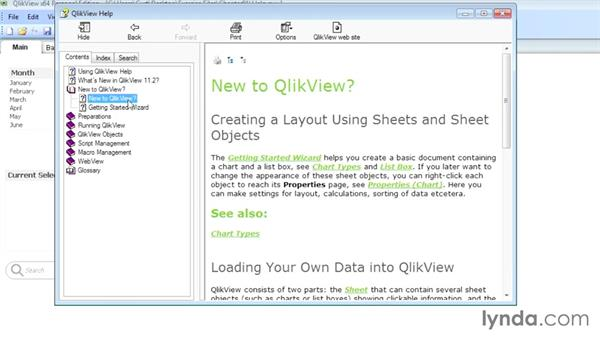 Getting help in QlikView: Up and Running with QlikView