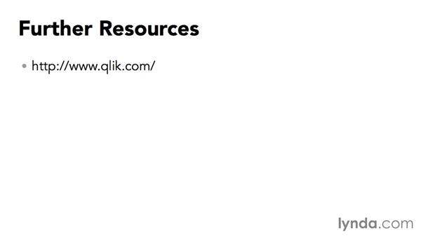 Further resources: Up and Running with QlikView
