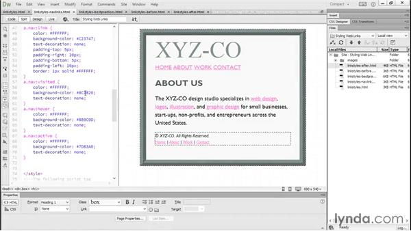 Styling your web links: Productivity Tips for Web Designers