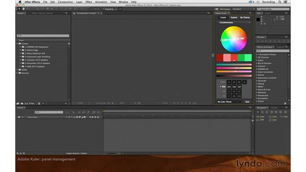 Adobe Color: After Effects: Creative Cloud Updates