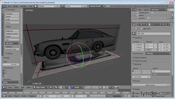 Setting up image planes: Vehicle Modeling in Blender