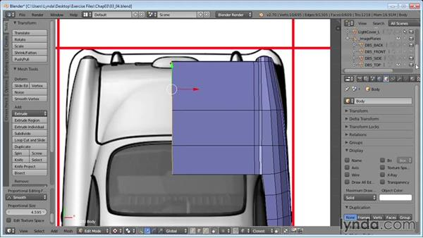 Roughing out the trunk: Vehicle Modeling in Blender