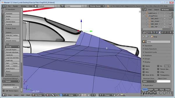 Detailing the trunk: Vehicle Modeling in Blender