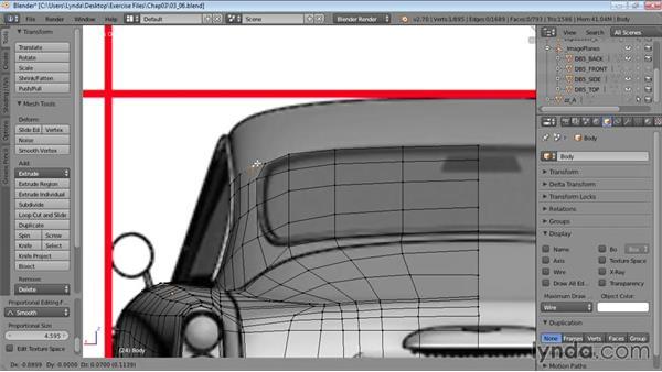 Adding the roof: Vehicle Modeling in Blender