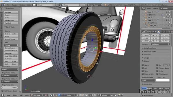 Making wheel hubs and rims: Vehicle Modeling in Blender