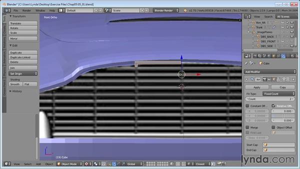 Making the grille: Vehicle Modeling in Blender