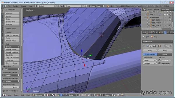 Adding windshields: Vehicle Modeling in Blender