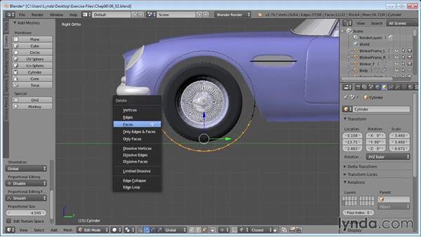 Setting up the scene for rendering: Vehicle Modeling in Blender