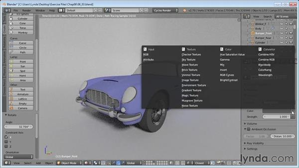 Adding lighting and reflective surfaces: Vehicle Modeling in Blender