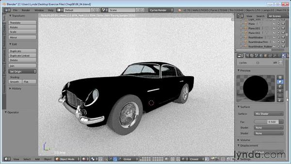 Fine-tuning materials: Vehicle Modeling in Blender