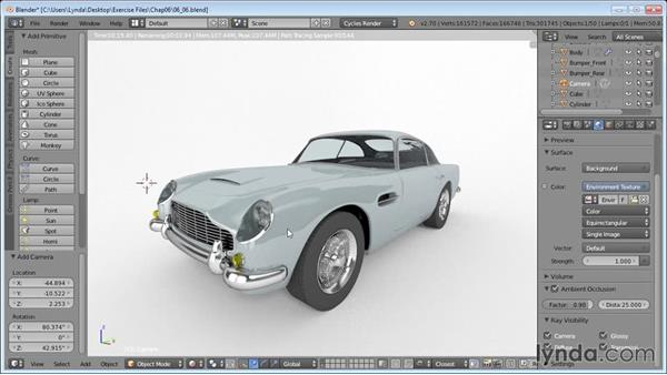 Final render: Vehicle Modeling in Blender