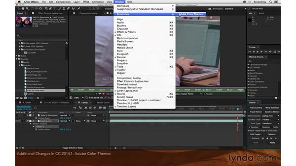 Additional features: After Effects: Creative Cloud Updates