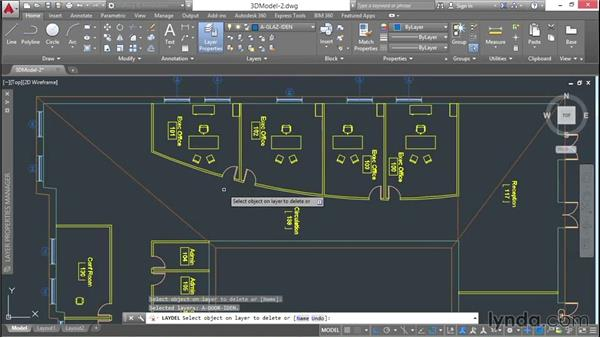Deleting, purging, and cleaning up: 3D Architectural Modeling with AutoCAD