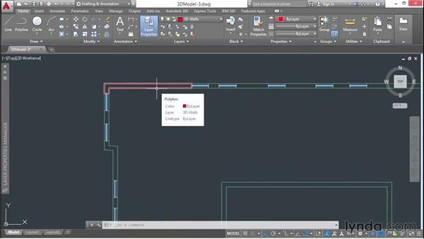 Creating closed polylines with boundaries: 3D Architectural Modeling with AutoCAD