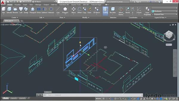 Realigning elevations and sections in 3D: 3D Architectural Modeling with AutoCAD