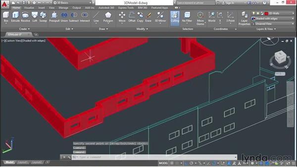 Building sills and headers: 3D Architectural Modeling with AutoCAD