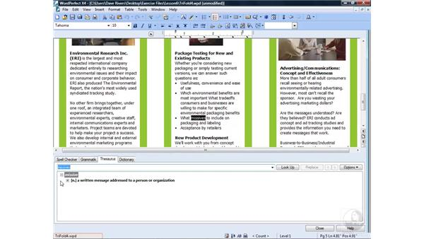 Using the Oxford Dictionary: WordPerfect Office X4 Essential Training