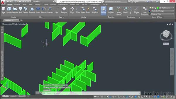 Extruding, presspulling, and unioning headers: 3D Architectural Modeling with AutoCAD