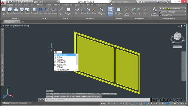 Building windows and their frames: 3D Architectural Modeling with AutoCAD